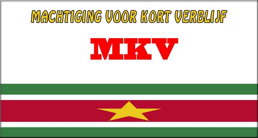 MKV Machtiging kortverblijf Suriname