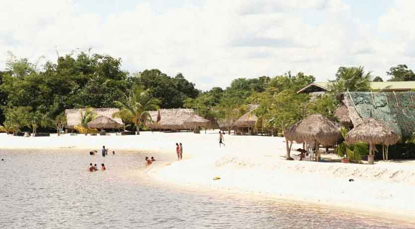 White beach Suriname
