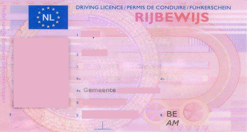 Rijbewijs Nederland rijtoestemmingsbewijs Suriname