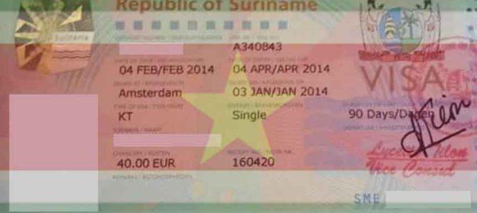 Verblijfsvergunning stage Suriname