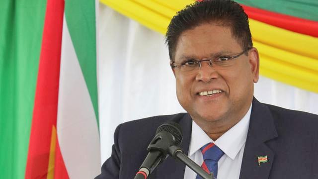Suriname president Santhoki